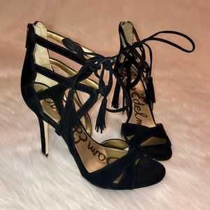 4c980a4a12ca Sam Edelman Shoes - Sam Edelman Azela Strappy Suede Tassel Sandal